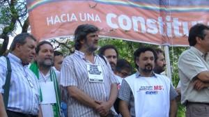 Palco Pza Mayo con Martín Tirres, Sergio García, Francisco Torres y Edgardo Castro